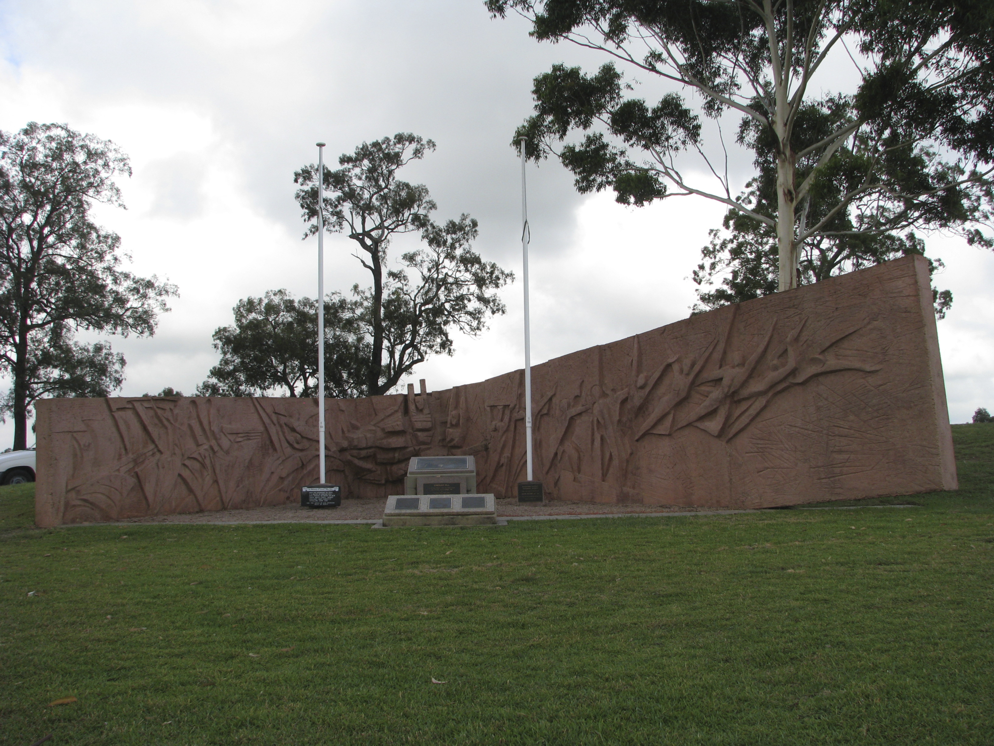 Memorial to 'Australia's Vinegar Hill'.