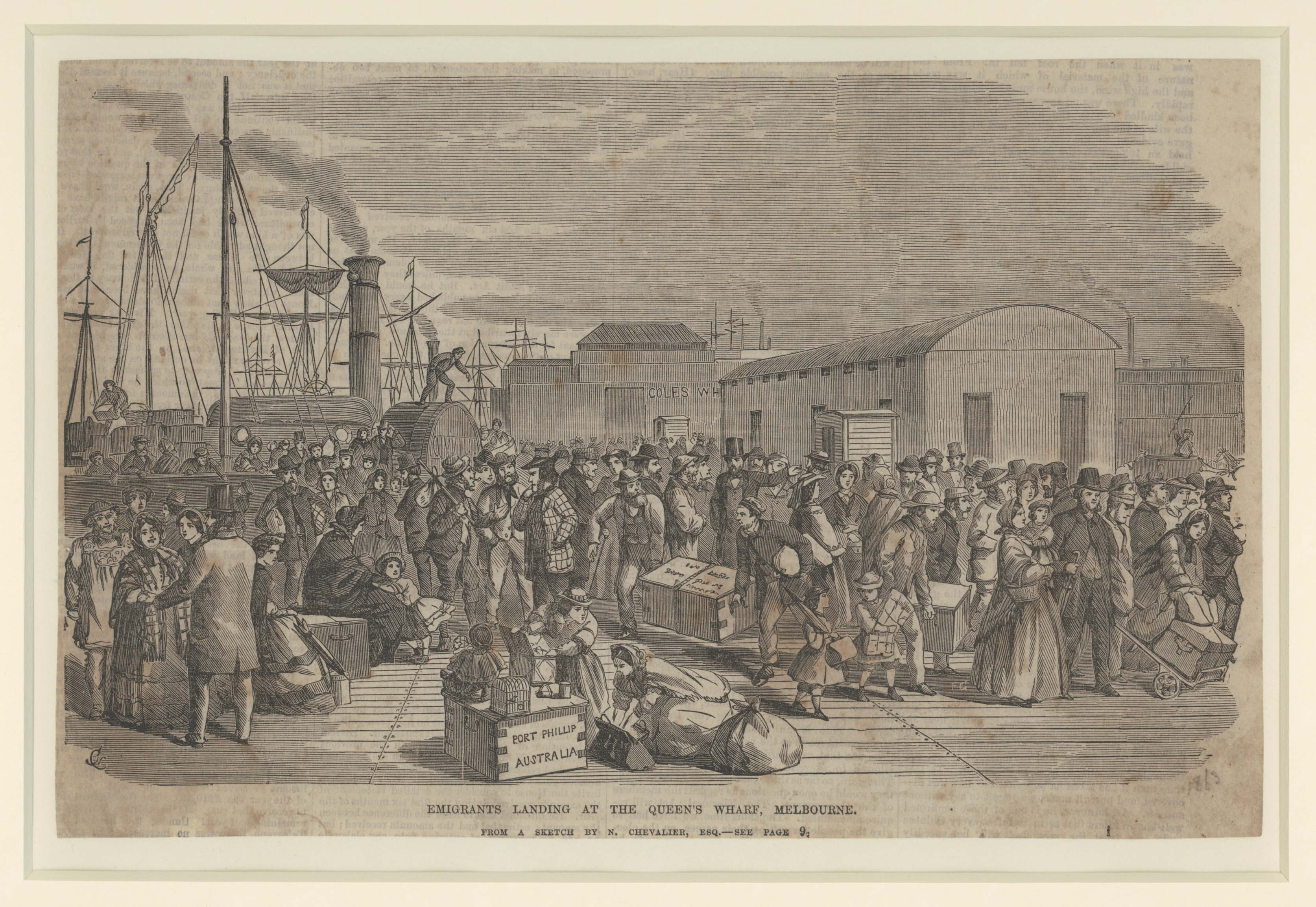 Emigrants Landing at the Queen's Wharf, Melbourne, by Frederick Grosse.