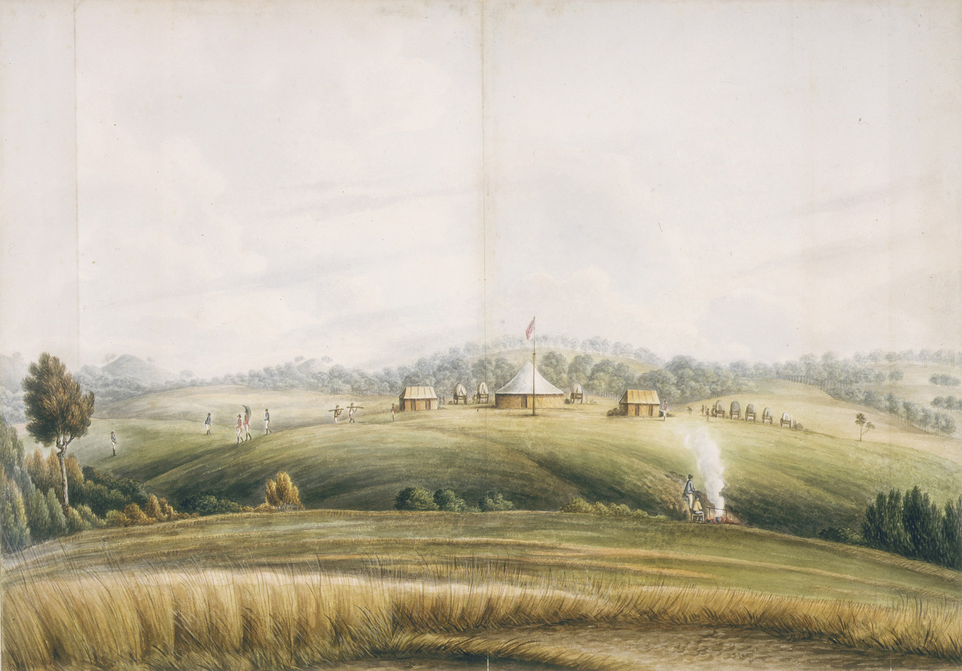 The Plains, Bathurst, by John Lewin, about 1815
