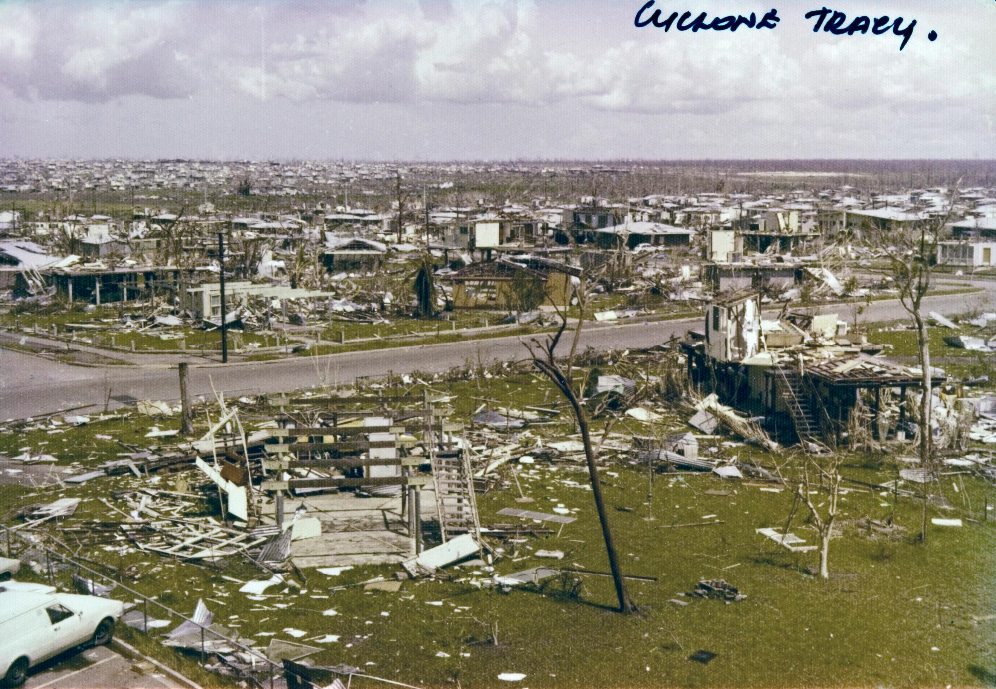 Darwin suburb of Wagaman after Cyclone Tracy, 1974.