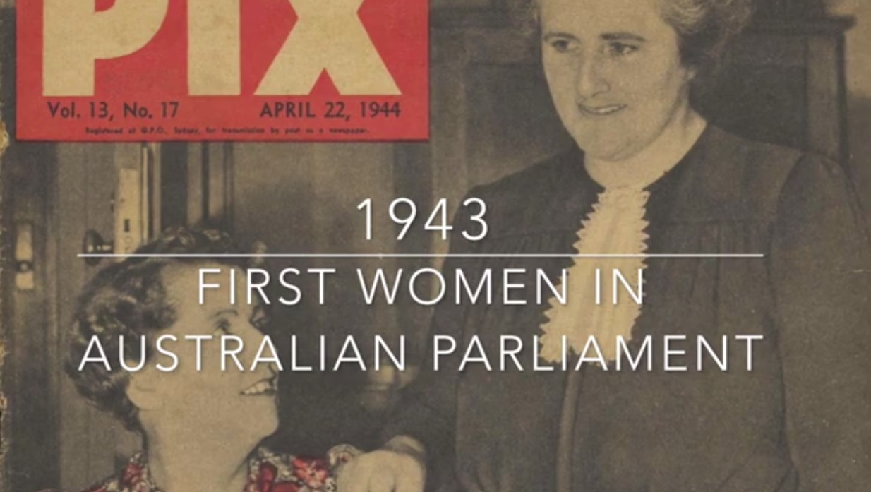 1943 First women in Australian parliament