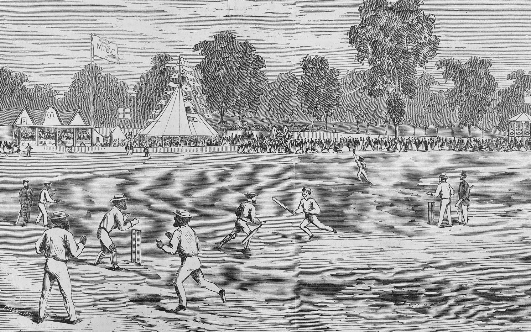 An Aboriginal cricket match, Melbourne, 24 January 1867.