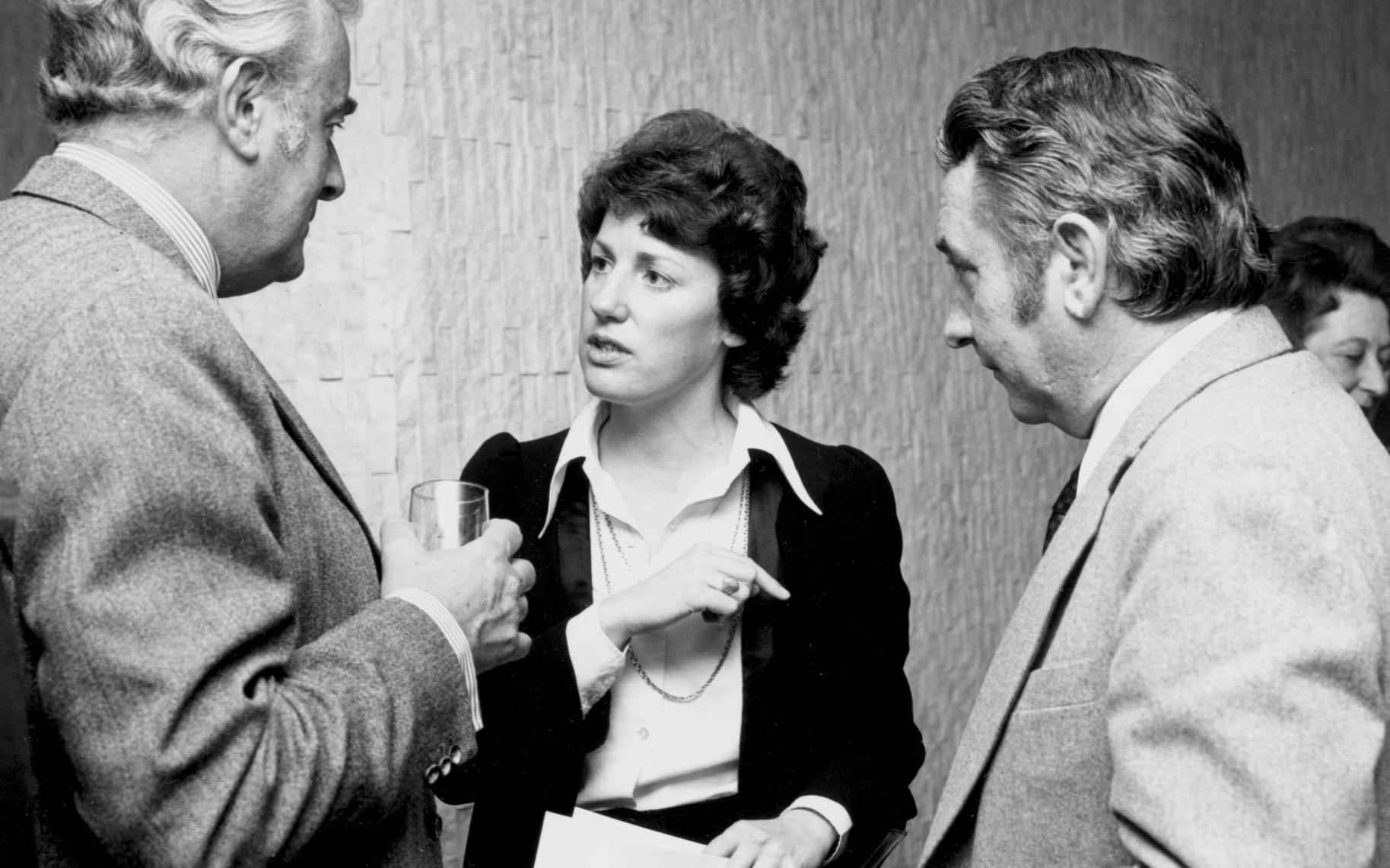 Elizabeth Reid, Australia's first advisor on women's affairs, with Prime Minister Gough Whitlam, 1973.